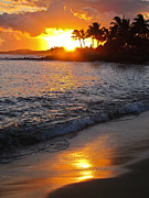 Tropical Prints - Kauai Sunset Print by Shane Kelly