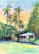 Plantation Paintings - Kauai West Side Cottage by Marionette Taboniar