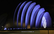 All-star Game Photo Framed Prints - Kauffman Center of Performing Arts during All-Star Week Framed Print by Raye Pond