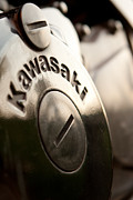 Vlad Baciu Art - Kawasaki motorcycle engine - closeup by Vlad Baciu