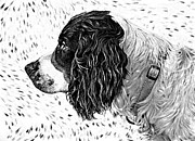 Dog Print Prints - Kaya wood carving filter Print by Steve Harrington