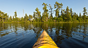 Kayak Framed Prints - Kayak Adventure BWCA Framed Print by Steve Gadomski