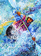 Kayaking Art Paintings - Kayak Crush iPhone Case  by Hanne Lore Koehler