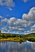 Fir Trees Photos - Kayak on the Moose River - Old Forge New York by David Patterson