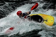 Summer Sports Prints - Kayaker 1 Print by Bob Christopher