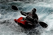 Summer Sports Prints - Kayaker 3 Print by Bob Christopher