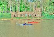 Old House Photographs Prints - Kayaks Print by Kathleen Struckle