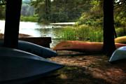 Michelle Calkins - Kayaks on the Shore