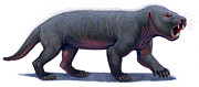 One Animal Digital Art Posters - Kayentatherium, A Mammal-like Poster by H. Kyoht Luterman