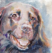 Chocolate Lab Framed Prints - Kayla Framed Print by Kimberly Santini