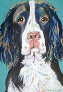 Dog Portraits Pastels Prints - Kayla Print by Pat Saunders-White
