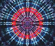 Grateful Dead Tapestries - Textiles Metal Prints - Kazamm Mandala Metal Print by Courtenay Pollock