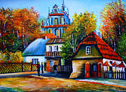 Pathway Paintings - Kazimierz Dolny in Fall by Ryszard Sleczka
