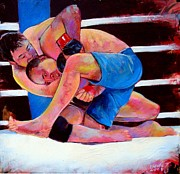Ufc Paintings - Kazushi Sakuraba by Robert Phelps