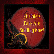 Kc Posters - KC Chiefs Fans Are Smiling Now Poster by Andee Photography