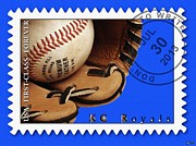 First-class Posters - KC Royals Postage Stamp Poster Poster by Liane Wright