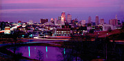 Gary Gingrich Framed Prints - KC Skyline-1990 Framed Print by Gary Gingrich Galleries
