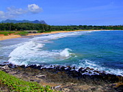 Kealia Beach - Kauai Hawaii Print by Mary Deal