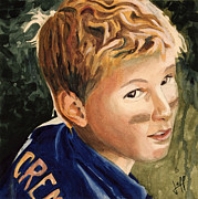 Little League Paintings - Keaton by Jeff Chase