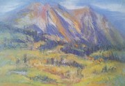 Colorado Trees Pastels Prints - Kebler View Print by Becky Chappell