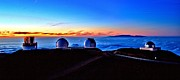 Keck Telescope Posters - Keck at Sunset - Panoramic Poster by Bob Kinnison
