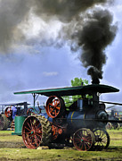 Greyhound Photos - Keck Gonnerman Steam Traction Engine In The Belt by F Leblanc