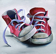 Red White And Blue Paintings - Keds by Natasha Denger
