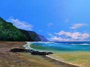 Ke'e Beach Kauai Print by Ken Ahlering