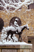 Keeneland Framed Prints - Keeneland in Winter Framed Print by Sid Webb