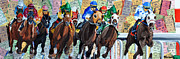 Kentucky Derby Mixed Media Prints - Keenland Tower Print by Michael Lee