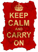 Keep Calm And Carry On  Print by Nik Helbig