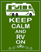 Carry On Art Framed Prints - Keep Calm and RV On Framed Print by Daryl Macintyre