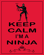 Kill Bill Prints - Keep Calm Im A Ninja Print by Daryl Macintyre