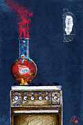 Bulb Mixed Media - Keep Hot by Ruta Dumalakaite