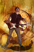 Guitarist Mixed Media - Keep On Rockin by Bedros Awak