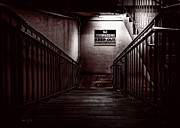 Stairway Prints - Keep Out Danger Of Drowning Print by Bob Orsillo