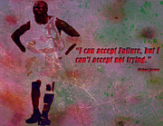 Nba Mixed Media Posters - Keep Trying Poster by Brian Reaves