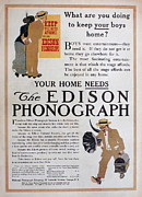 Edison Posters - Keep Your Boys At Home Poster by Ira Shander