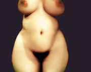 Nude Woman Digital Art - Keeping Time Version 2 by James Barnes