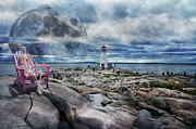 Halifax Prints - Keeping Watch Print by Betsy A Cutler East Coast Barrier Islands