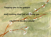 Sympathy Painting Posters - Keeping you in our prayers Poster by Linda Feinberg