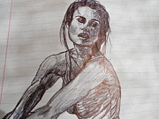 Featured Drawings - Keira Knightley by Embeth Wilmoth