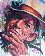 Ronnie Wood Art - Keith - A by Tachi Pintor