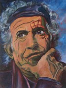 Keith Richards Painting Originals - Keith by Christina Clare