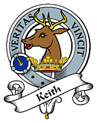Genealogy Prints - Keith Clan Badge Print by Heraldry