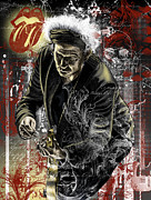 Keith Richards Painting Posters - Keith Poster by Gary Kroman