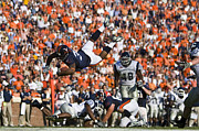 Cavaliers Posters - Keith Payne Superman Dive Virginia Cavaliers Football Poster by Jason O Watson