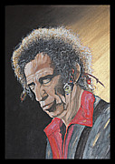 Rolling Stones Painting Originals - Keith Richards by Annie Lovelass