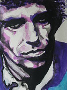 Famous Faces Painting Originals - Keith Richards by Chrisann Ellis