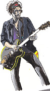 Keith Richards Art - Keith Richards by Dana Smith